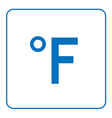 Fahrenheit degree icon vector image