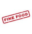 Fine Food Text Rubber Stamp vector image vector image