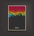 fire flame splash imitation notebook mockup cover vector image