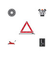 flat service set of lifting warning brake disk vector image vector image