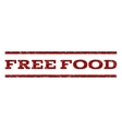 Free Food Watermark Stamp vector image vector image