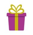 gift box present ribbon festive vector image vector image