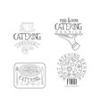hand drawn design 4 catering service vector image vector image