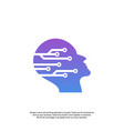 head tech logo concept brain robotic logo vector image