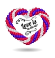Heart made from balloons for the wedding ceremony vector image