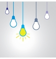 Idea concept with light bulbs vector image