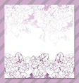 invitation cards with floral elements vector image vector image