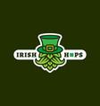 irish hops logo vector image vector image