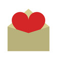 letter heart flat vector image vector image
