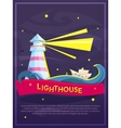 Lighthouse poster vector image vector image