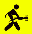man playing guitar sign vector image