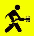man playing guitar sign vector image