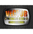 Metallic steel vector image vector image