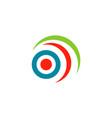 optic eye color logo vector image