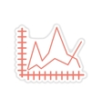 paper sticker on white background economic graph vector image vector image