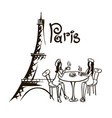 paris bistro hand drawn vector image