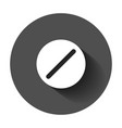 pill icon in flat style tablet with long shadow vector image vector image