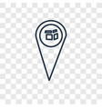 pin concept linear icon isolated on transparent vector image