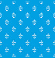 pirate anchor pattern seamless blue vector image vector image