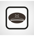 Postman cap icon Simple vector image
