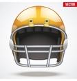 Realistic Orange American football helmet Front vector image vector image