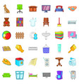 rest house icons set cartoon style vector image vector image