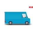 retro blue service van minibus vector image