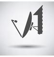Sattelite antenna icon vector image vector image