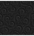seamless black floral wallpaper pattern vector image vector image