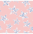 seamless colorful stars pattern Rose vector image vector image