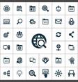 seo icons universal set for web and ui vector image