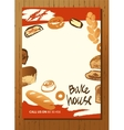 Set of of hand drawn bread bun and vector image