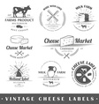 Set of vintage labels cheese vector image