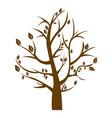 silhouette tree in winter season vector image vector image