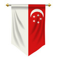 singapore pennant vector image vector image