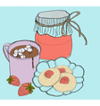 sweet breakfast vector image vector image