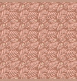 tiny jungle leaves and branches on beige vector image