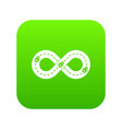track icon green vector image