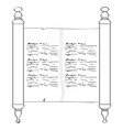 traditional torah outline vector image vector image