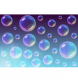 Transparent Multicolored Soap Bubbles background vector image