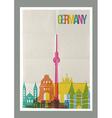 Travel Germany landmarks skyline vintage poster vector image vector image