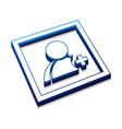 user web icon vector image vector image