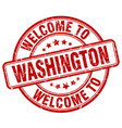 welcome to washington red round vintage stamp vector image vector image