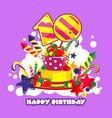 birthday cake number vector image