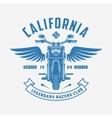 Vintage motorcycle t-shirt design Racers club vector image