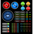 Web icons and buttons vector image