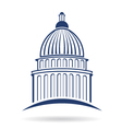 Capitol building icon vector image