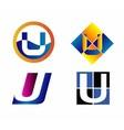 Alphabetical Logo Design Concepts Letter U vector image vector image