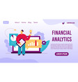 analysis trends financial strategy landing page vector image