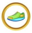 Athletic shoe icon vector image vector image